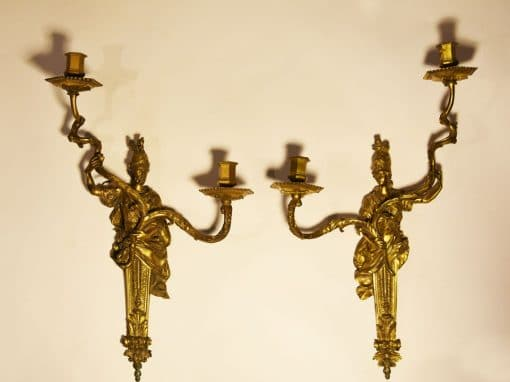 Wall Lights depicting warriors
