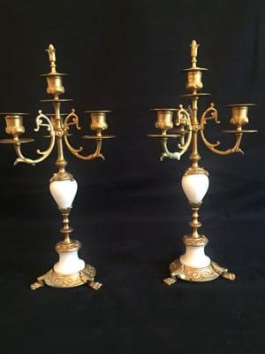 Duo de candélabres