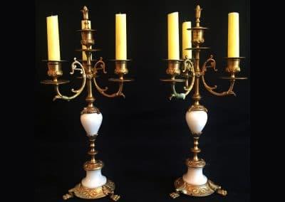 Candélabres XIXème siècle