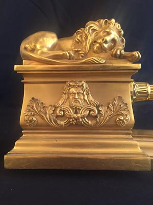 chenet bronze lions