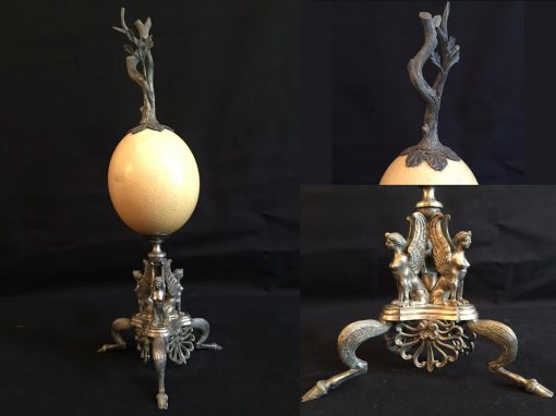 Ostrich Egg, Silver base
