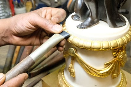Brunissage de bronze