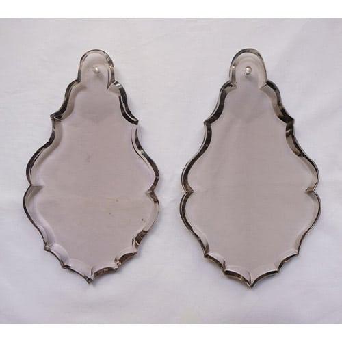 Plaquette transparente fume pour lustre