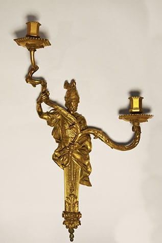 Applique guerrier bronze