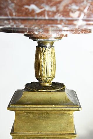 pièce décorative coupe en marbre et bronze