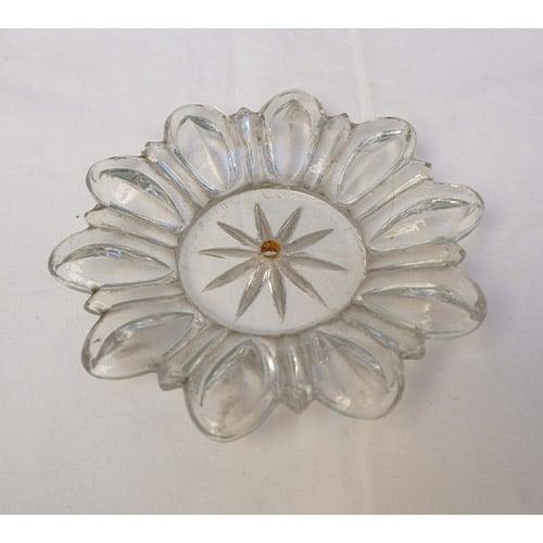 coupelle transparente forme d'étoile pour lustre
