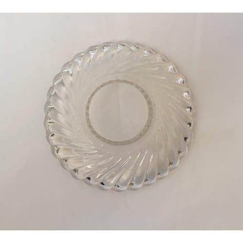 coupelle transparente 19eme siècle pour lustre
