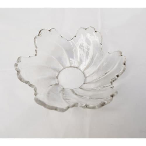 coupelle transparente forme de fleur pour lustre