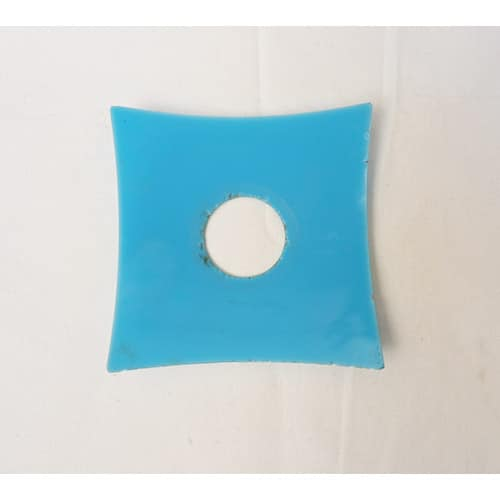 coupelle carré bleu opaline pour lustre