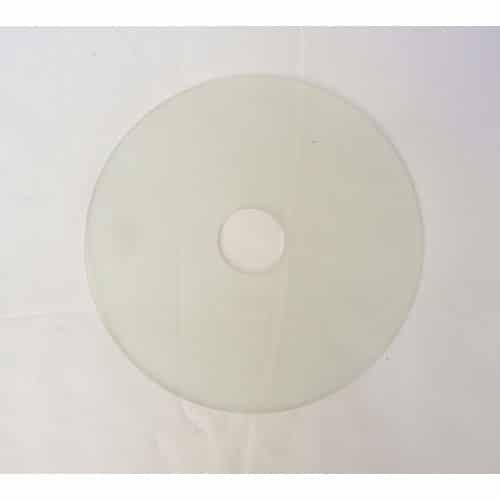 coupelle plate transparente pour lustre