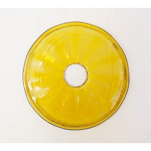 coupelle ocre transparente pour lustre