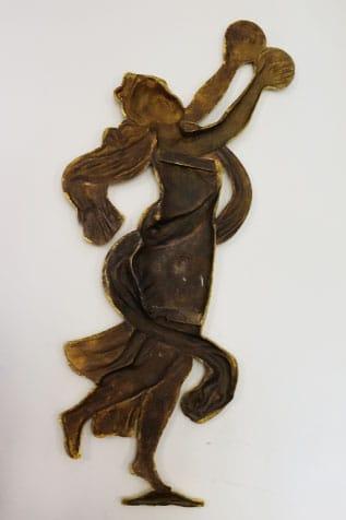pièce décorative danseuse bronze