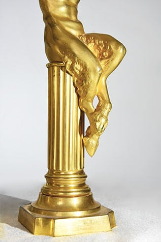 pièce décorative faune bronze