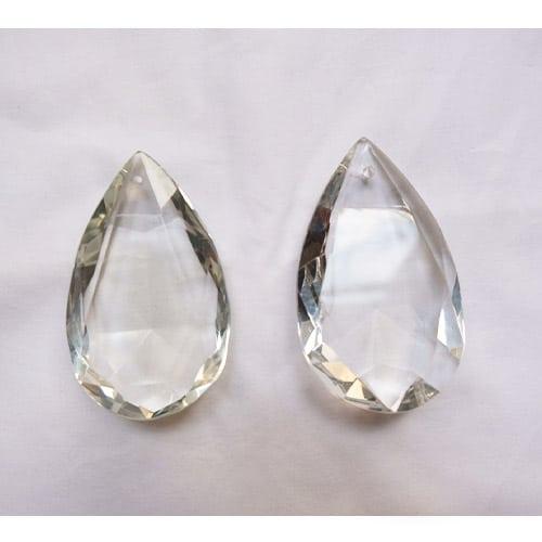 gouttes à facettes transparentes pour lustre