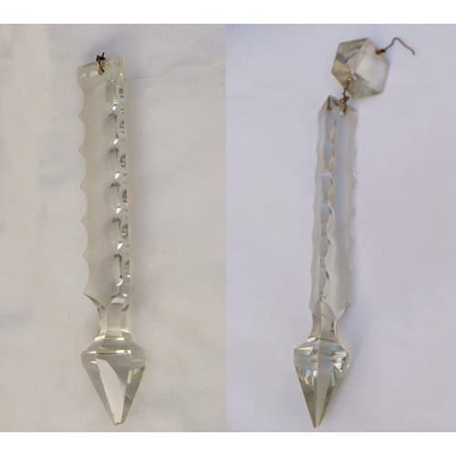 octogone L 18 cm lot 10 anciennes pampilles de lustre prisme trapèze