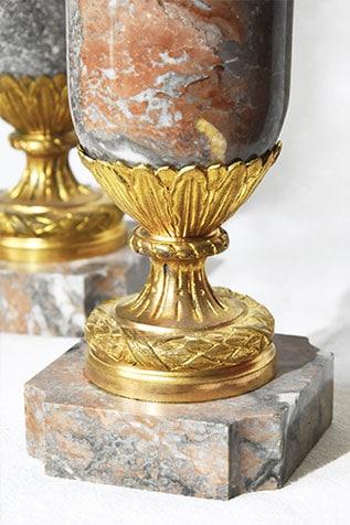 pièce décorative paire de pot-au-feu bronze