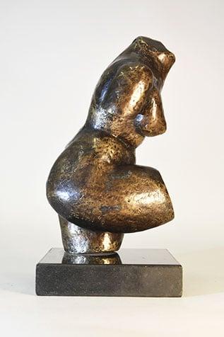 statuette corps de femme en bronze